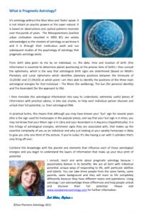 Pragmatic Astrology Factsheet