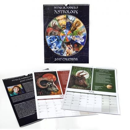 2017 Zodiac Calendar Star Planners Astrology