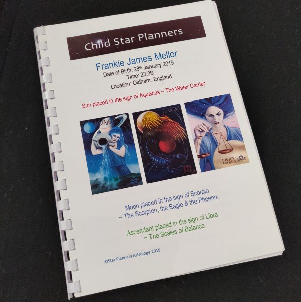 Child Star Planner Bespoke Astrology Book